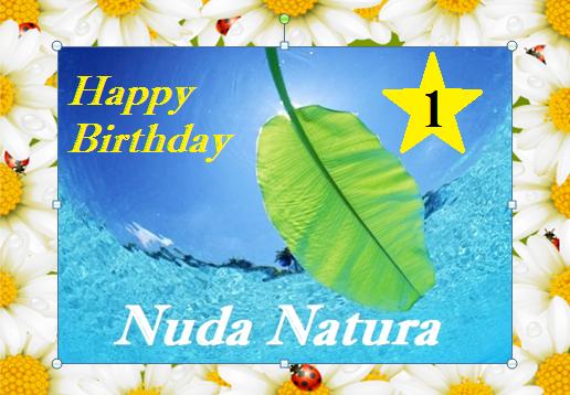 Buon compleanno Nuda Natura